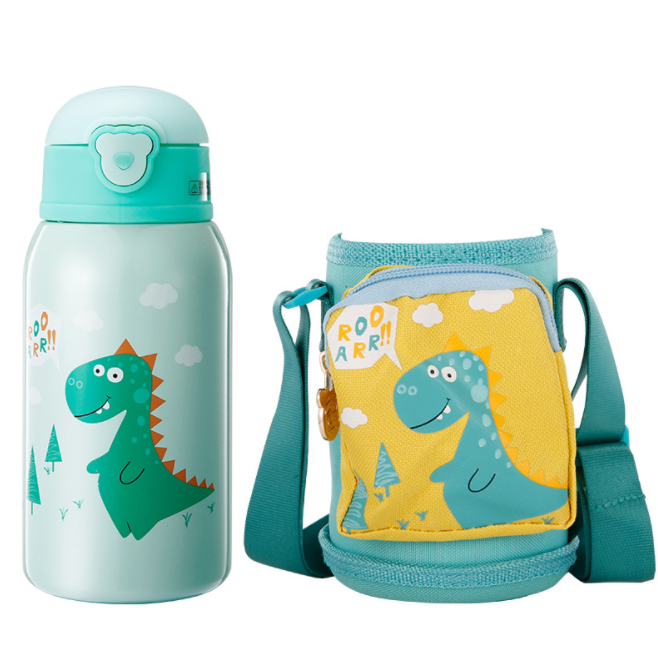 630ml Baby Feeding Thermocup Thermos Cup Children Bottle Vacuum Flask School Stainless Steel Thermal Mug