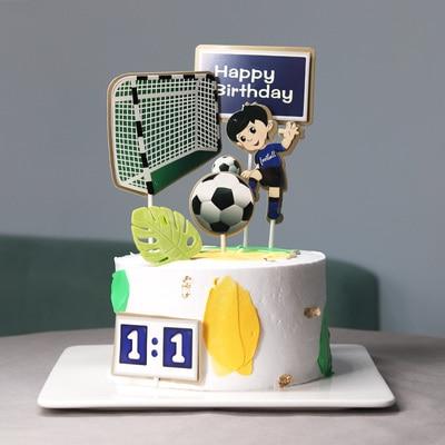 Strange Boy Football Sports Theme Happy Birthday Cake Topper Cartoon Kids Personalised Birthday Cards Paralily Jamesorg