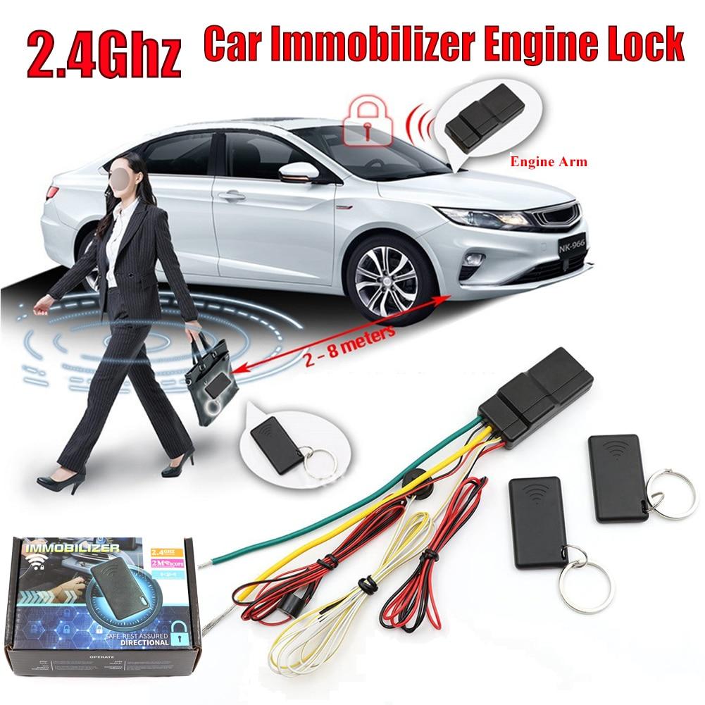 Car Accessories RFID Car Immobilizer Engine Lock Anti-Hijacking & Circuit Cut Alarm Inmoviliza Car Engine Anti-theft Device
