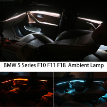For BMW F10 / F11 Upgrade 3 Colors Interior Led Ambient Atmosphere Lamp Light Stripes