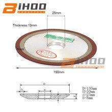 150mm Diamond Grinding Wheel Hypotenuse Carbide Grinding Disc For Tungsten Steel Milling Cutter Sharpener Sharpen Blade Sawtooth