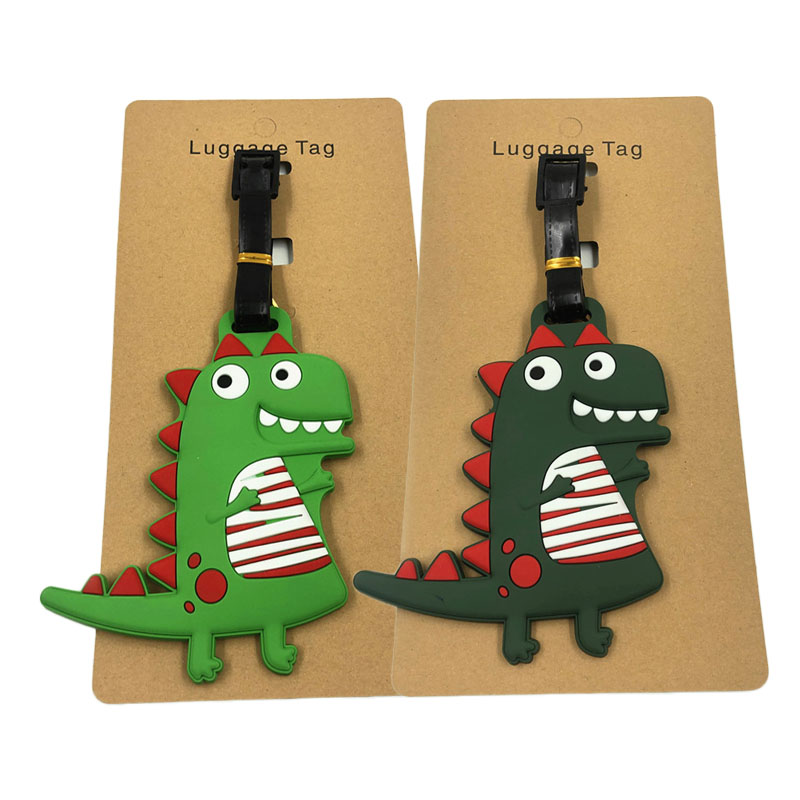 Little Dinosaur Luggage Silica Gel Luggage Tag Animal Cartoon Suitcase ID Addres Holder Baggage Boarding Portable Label