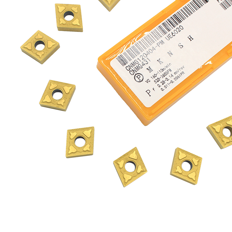10PCS <font><b>CNMG120404</b></font> PM UE6020 External Turning Tools Carbide insert Lathe cutter Tool Tokarnyy turning insert image