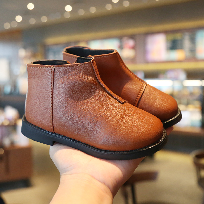 Boys Mar Boots Girls 2019 New Fashion Autumn Winter Toddler Shoes Kids Warm Vintage Wide Chilidre Boots Baby Shoes Bootie|Boots| |  - title=