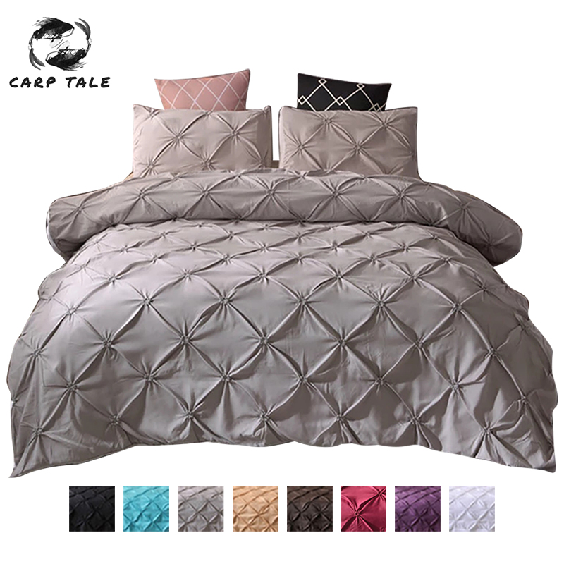 2 3pcs Home Duvet Cover Queen Bedding Set 3d Solid Color Quilt Covers Winter Simple Comfortable Bed Line Set With Pillowcase Bedding Sets Aliexpress