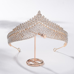 New Korean Fashion Style Luxury Retro Rhinestone Royal Princess Tiaras Crown Headband Bride Noiva Wedding Party Hair Accessories