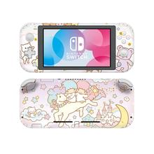 Pegatina de piel de Little doswitch Little Twin Stars para Protector de Nintendo Switch Lite, pegatina de vinilo