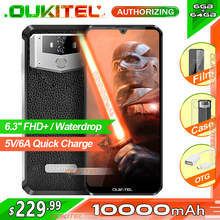 OUKITEL K12 6.3 Waterdrop 1080*2340 6GB 64GB Android 9.0 Smartphone Face ID 10000mAh 5V/6A Quick Charge OTG NFC Mobile Phone