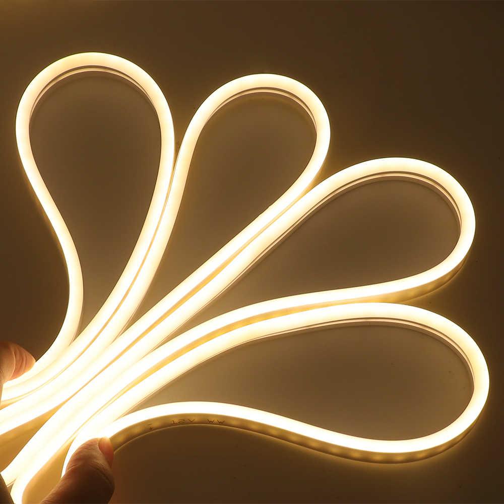 220V wtyczka zasilania ue 2835 5050 120 leds/m pas Ambilight elastyczna lina światła IP65 Fairy oświetlenie RGB Neon LED listwa oświetleniowa