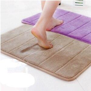 40x60cm Water Absorption Rug Bathroom Mat Shaggy Memory Foam Bath Mat kitchen Door Floor Mat Carpet For Toilet Non Slip 12 c