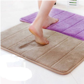 40x60cm Water Absorption Rug Bathroom Mat Shaggy Memory Foam Bath Mat kitchen Door Floor Mat Carpet For Toilet Non Slip 12 c image