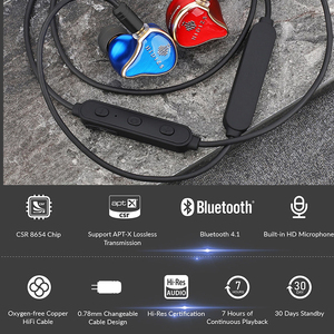 Image 2 - HIDIZS BT01 APT X HiFi Audio 4.1 Bluetooth Receiver Portable Premium Bluetooth cable with 2pin/0.78mm made for MS4 MS1