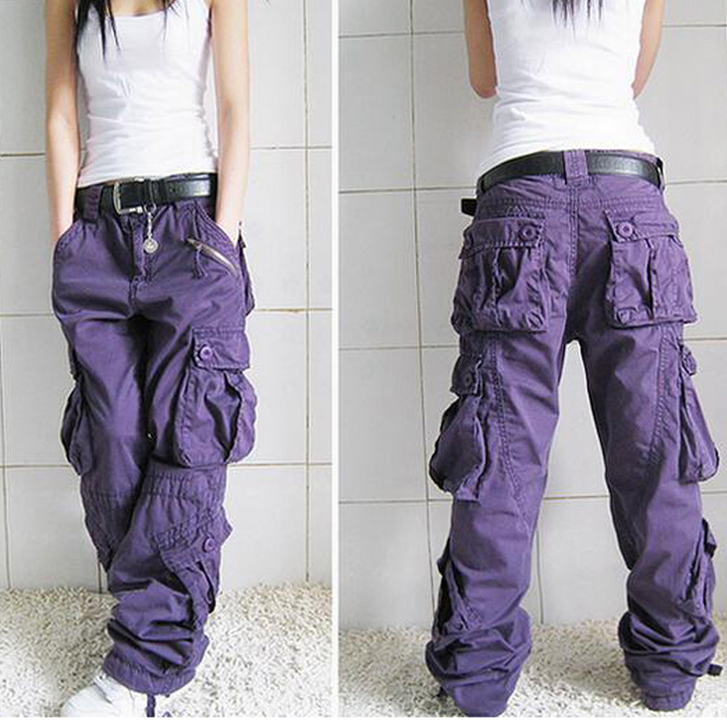 Free Shipping New Arrival Plus Size 5Colors Cargo Pants Lovers Fashion Hip Hop Loose Jeans Baggy Pants For Women