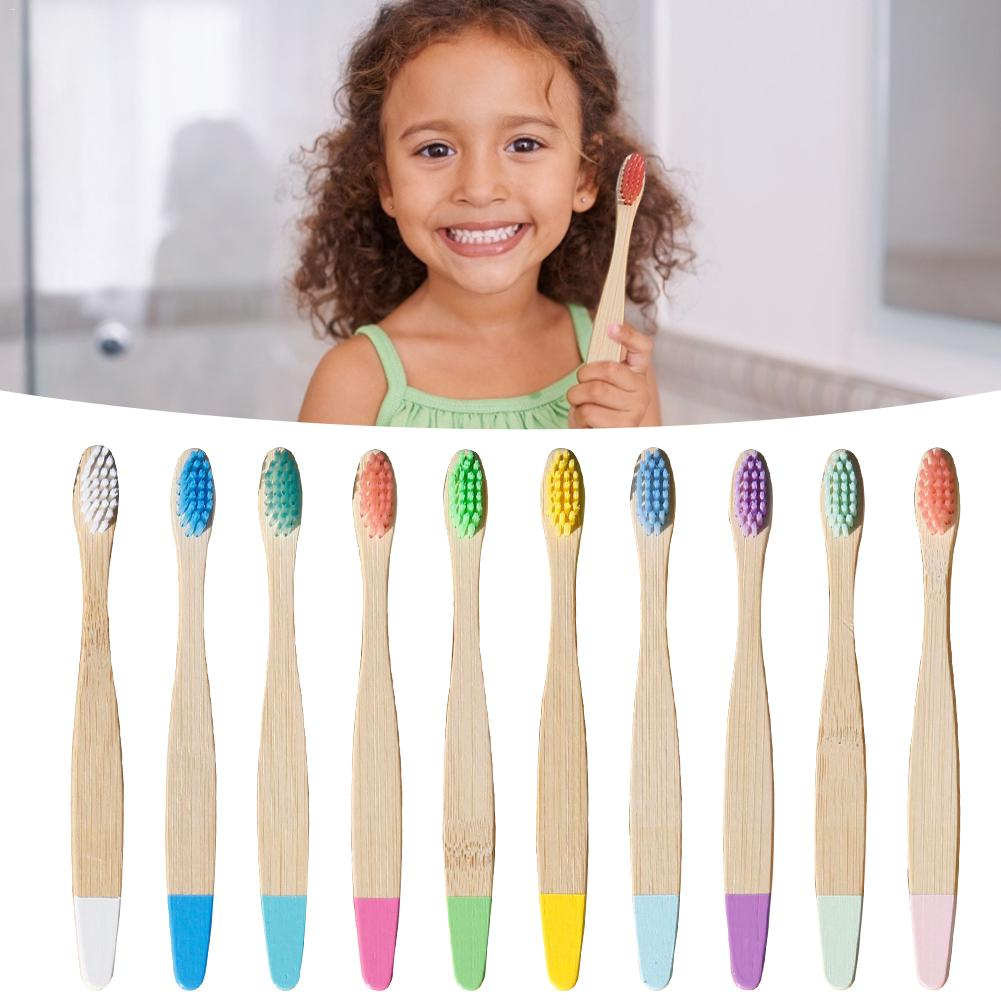 10PC Natural Bamboo Toothbrush Eco-friendly Low-carbon Travel Tooth Brush Soft Bristle For Children Toothbrush Oral Care image