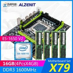 Zestaw płyt głównych ALZENIT X79 X79M-CE5 M.2 MATX z procesorem Intel Xeon E5-1650 V2 3.5 GHz 4*4GB (16GB) DDR3 1600MHz ECC/REG RAM