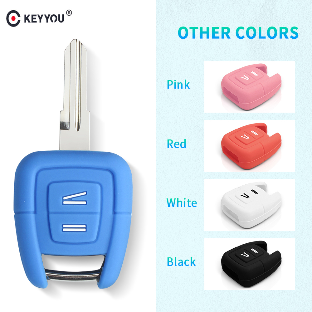 KEYYOU 2 Button Silicone Key Cover Fob Case Keychain For Vauxhall Opel Holden Astra Zafira Vectra Tigra Omega Signum Car Styling