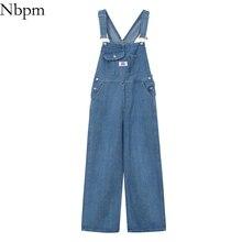 Boyfriend Jeans Cargo-Pants High-Waist Spring Baggy Trousers Denim Overalls Streetwear