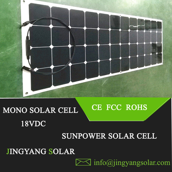 High Efficiency Light weight Solar Panel Bright Solar Sunpower Cell 100W Flexible Solar Panel for RV Yacht and Bus Station