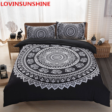 Mandala Bedding Set Queen Soft Bedclothes Twill Bohemian Print Duvet Cover with Pillowcases 3pcs Bed Home textile