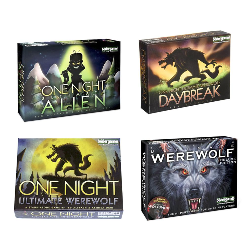 One Night Ultimate Werewolf Alien Board Games Werewolves Family Friend Interactive Educational Toy English Version Cards Game