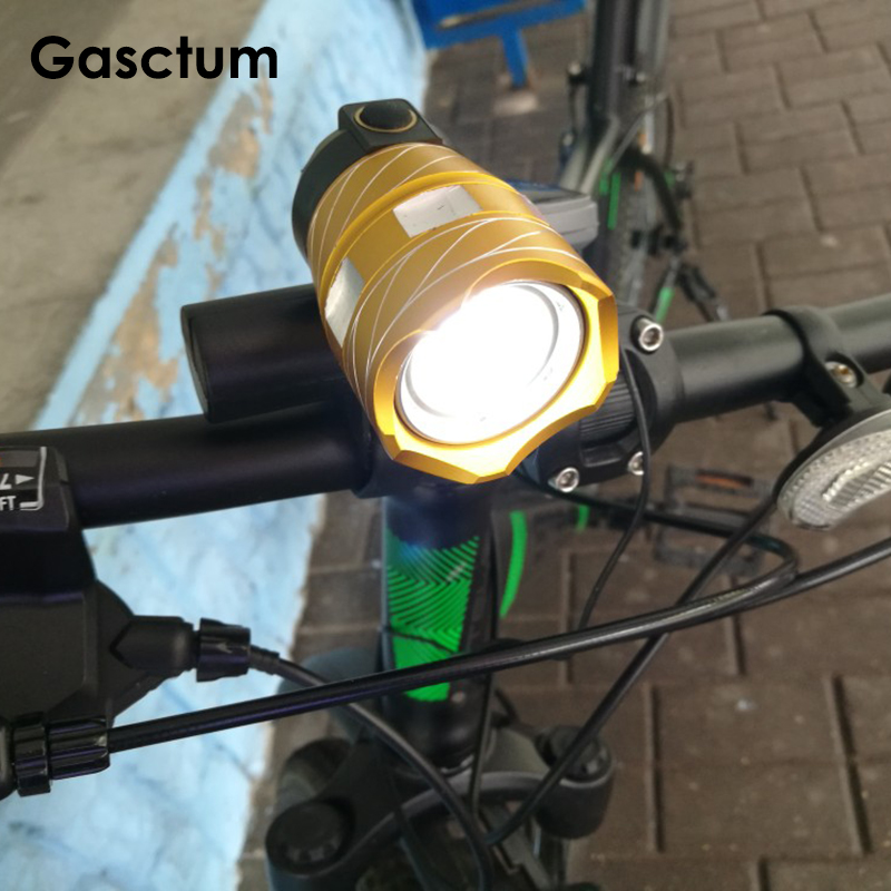 15000LM Free Zoom Waterproof T6 LED Bicycle Light Bike Front Lamp Torch Headlight With USB Rechargeable Cycling Light Taillight