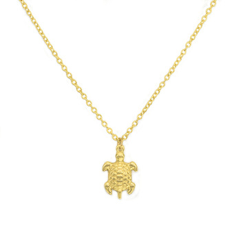 American hot style deserve to act the role of new big tortoise necklace gold-plated silver pendant necklace friend gift