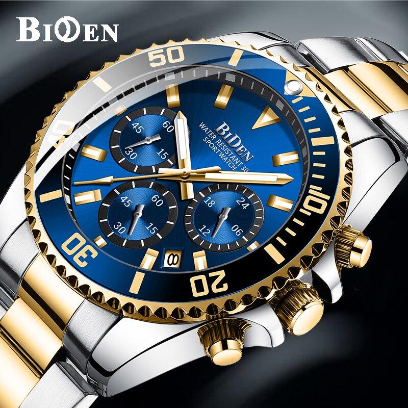 Luxury Brand Mens Watches Sports Chronograph Waterproof Analog 24 Hour Date Quartz Watch Men Rolexable Wrist Watches Clock 2020