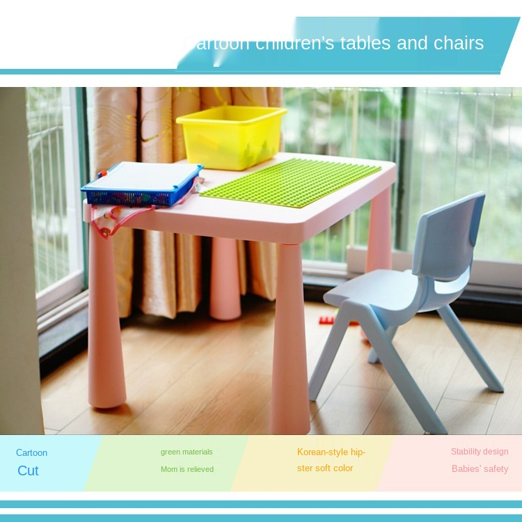 New Thickening Children S Desk And Chair Suit Combination Kindergarten Dining Table Set Kids Table And Chair Furniture Aliexpress