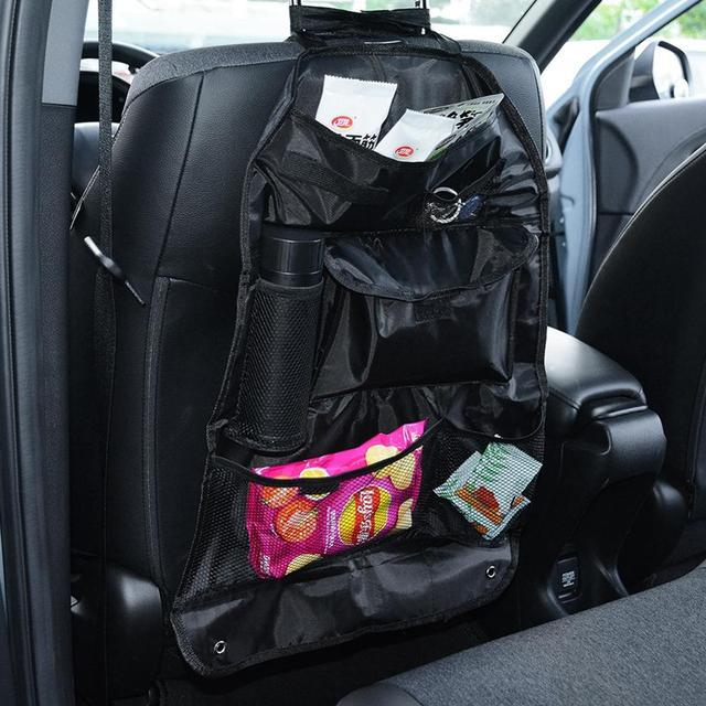 Assento de carro saco de armazenamento multi bolso organizador banco traseiro automático arrumado bolsa acessórios