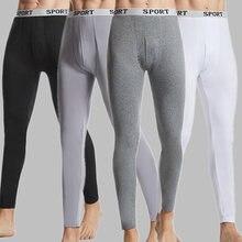 Outono inverno dos homens roupa interior térmica quente longo johns elasticidade calças térmicas quente thermo roupa interior leggings thermo