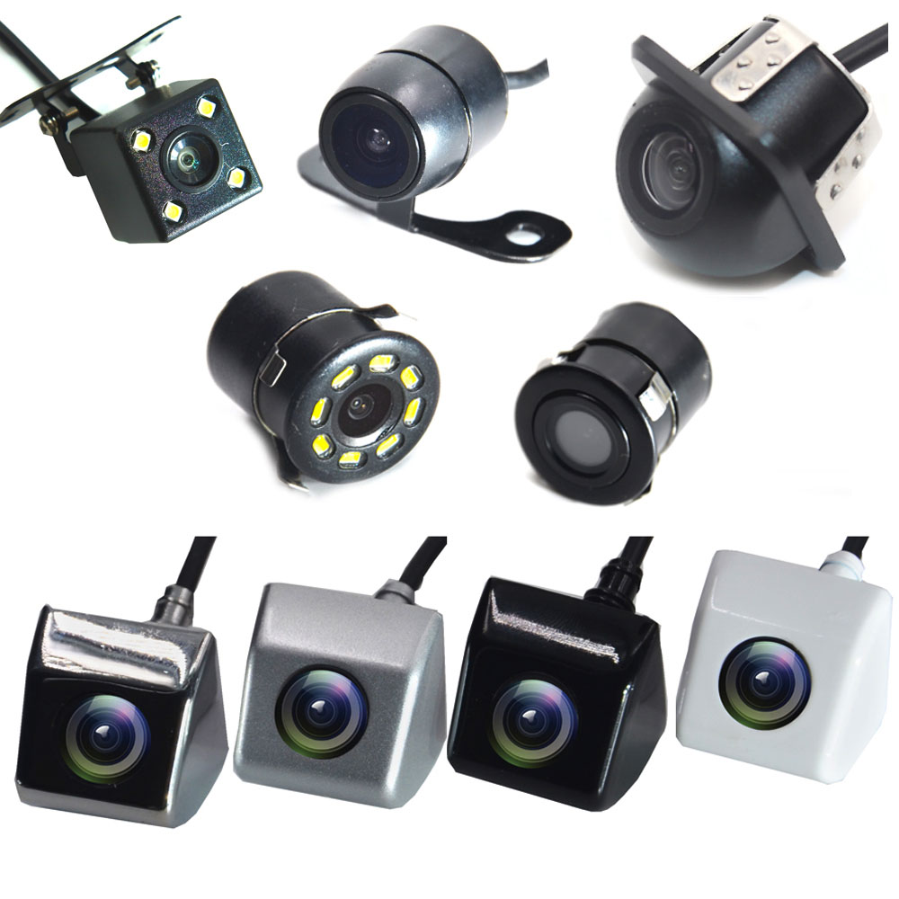 BYNCG HD CCD Night Vision Reverse Camera 170 Angle Car Rear View Camera IP67 DC 12V/24V Vehicle Camera For VW Ford Toyota & More