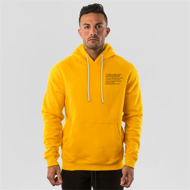 ALPHALETE Men Brand Solid Color Hoodies Fashion Casual Gyms Fitness Hooded Jacket Male Cotton Sweatshirts Sportswear Clothing
