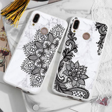 Pattern Marble Girl Gifts Case For Coque Huawei Honor 10i 20i 8X View 10 20 9 Lite 9X 7A Pro 7X 7C Play White Matte Case Cover(China)