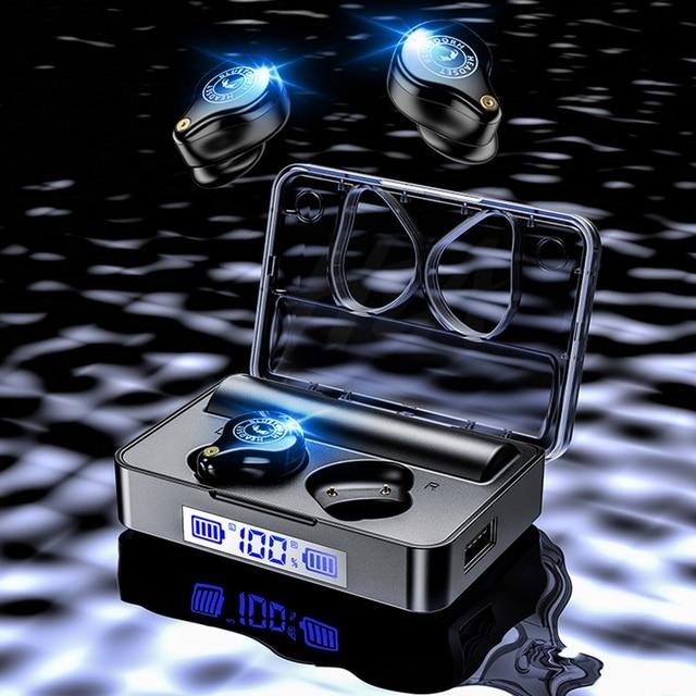 TWS Bluetooth Earphones 5.0 Sport Wireless Headphones Headset Blutooth Earphone Led Display Earbuds With 3600 mAh Charging Box