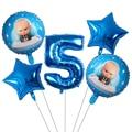 5 stücke Boss Baby Ballon 30 inch Anzahl Folie Helium Ballons Baby Dusche 1st Geburtstag Thema Party Dekoration Latex Luft globos Ball