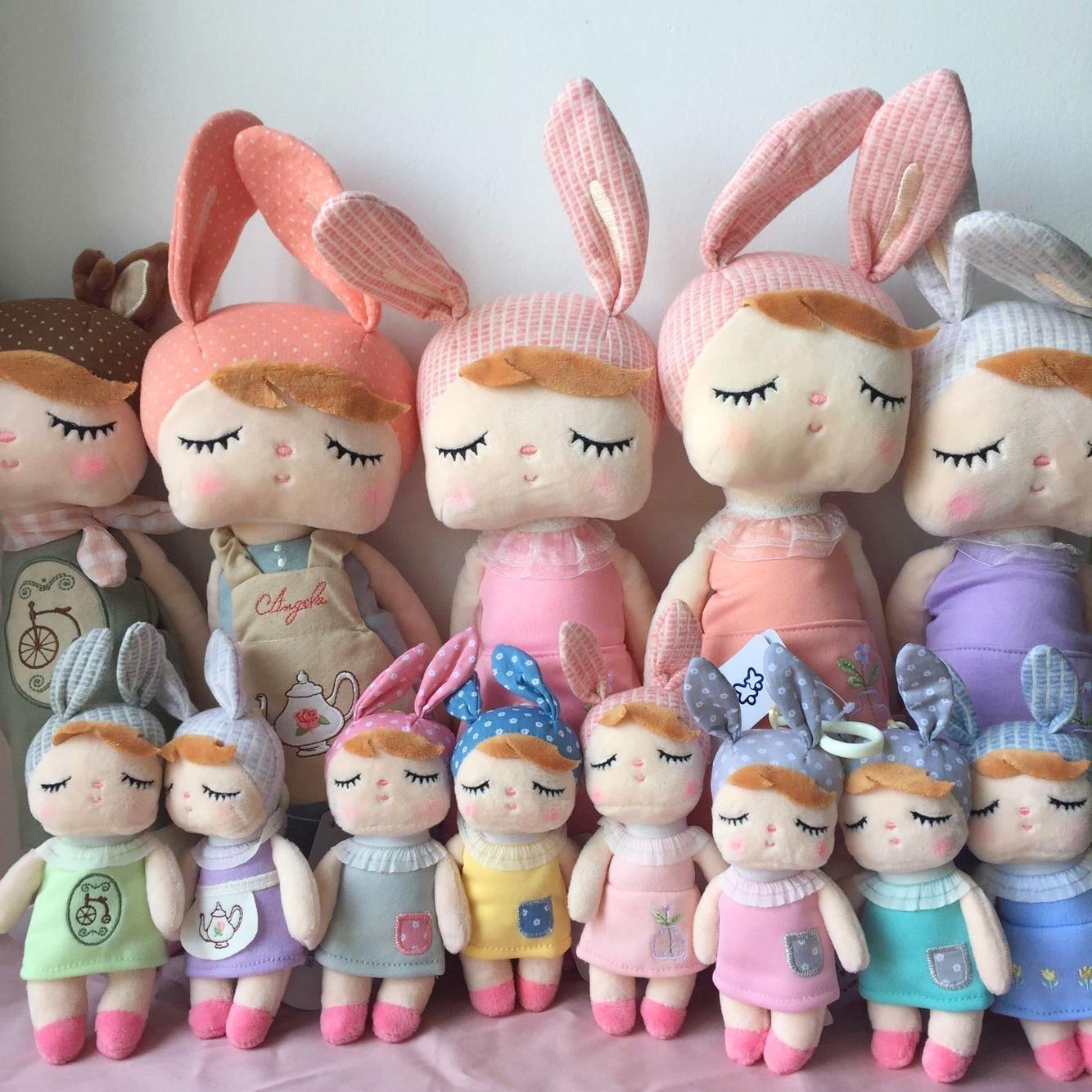 2 peça metoo boneca macio brinquedos de pelúcia para meninas bebê bonito coelho bonito angela animais de pelúcia para crianças