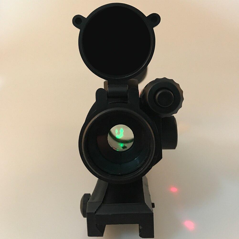 Ceia de Qualidade Integrado Verde Dot Sight Scope com Laser Vermelho para Nerf com 7 centímetros Ferroviário/para Gel de Água contas Blaster Substituição