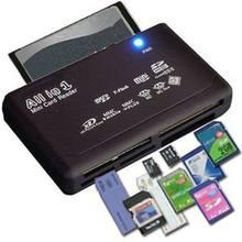 Mini cardreader de memória tudo em um leitor de cartão usb 2.0 480mbps leitor de cartão tf ms m2 xd cf micro leitor de carder sd