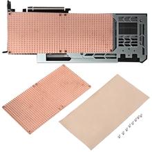 GPU pełna pokrywa GPU miedzi chłodnicy PC chłodzenia chłodnicy płyta tylna dla karty graficznej 3090 3080 chłodzenia hurtowni tanie tanio HUANANZHI NONE CN (pochodzenie) 5800431