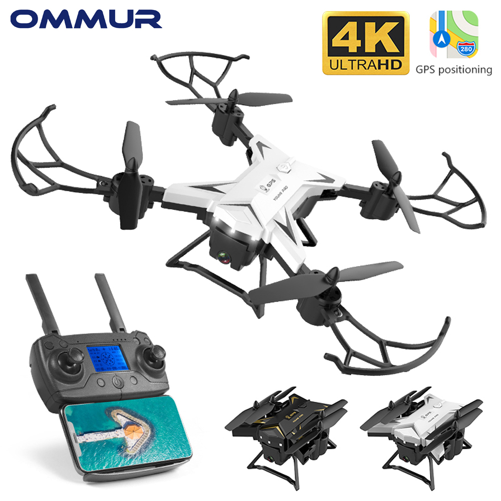 OMMUR KY601G Drone Long Fly Time 5GHz WIFI HD Wide Angle 4K Camera Intelligent Control Face Recognize Photo1800m GPS Positioning