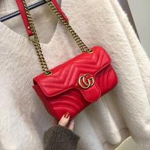 Bags Women New Fashion Shoulder Bag Chain Leather Messenger