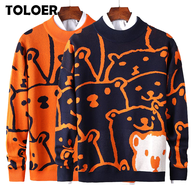Lovely Sweater Men 2020 Winter Pullover Men''s Sweaters Fashion Boy Student Sweater Autumn New Brand Embroidery Knitwear Clothing