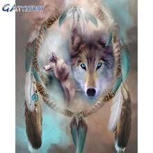 Gatyztory картина по номерам для взрослых Волк ручная роспись