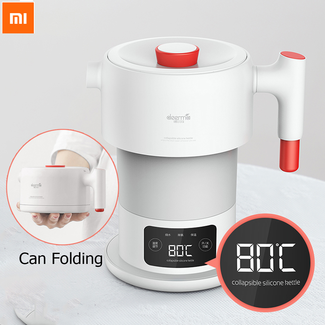 Xiaomi Mijia Deerma 0.6L Folding Portable Water Kettle Handheld Electric Water Flask Pot Auto Power-off Protection Wired Kettle