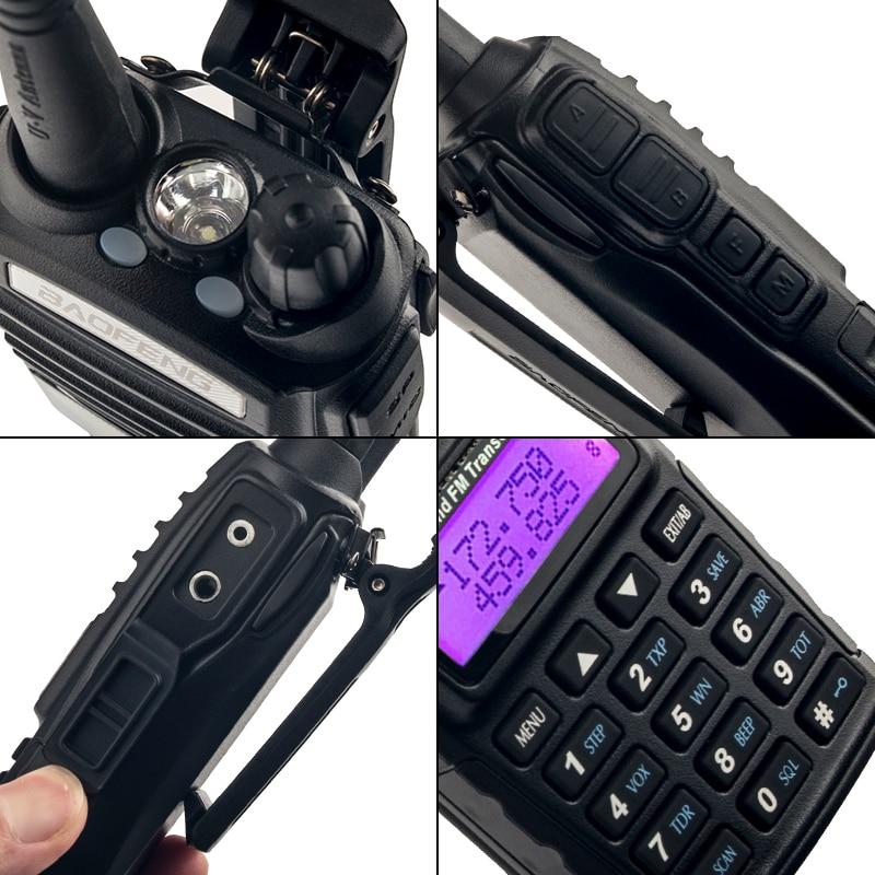 Купить с кэшбэком 2PCS BaoFeng UV-82 Walkie-Talkie 5W 8W U/V Baofeng UV 82 Headset Walkie Talkie 10 KM Baofeng UV82 8 Watt Radios uv 9r ham radio