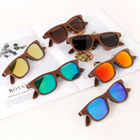 2019 hot selling wooden glasses black walnut pressed into fashion polarized sunglasses for men and women
