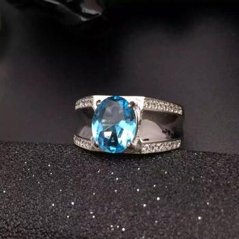 Man Ring Natural And Real Topaz Man Ring Wedding Engagement Topaz Ring Fine Jewelry Wholesale 925 sliver Ring