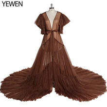 Rosa vestido de maternidade para photoshoot vestido de noiva plus tamanho yewen cores personalizadas