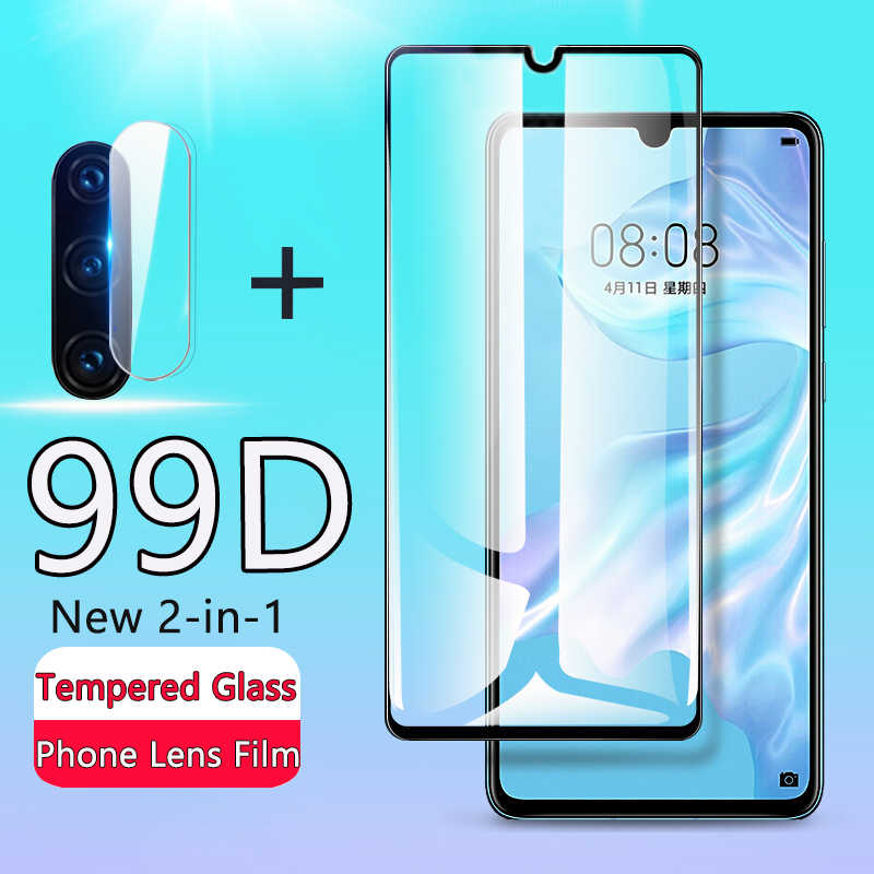 2 · イン · 1 99D 強化 Huawei 社の P30 P20 Lite スクリーンプロテクター Huawei 社メイト 10 20 プロ 1080p スマート 2019 バックカメラレンズガラス