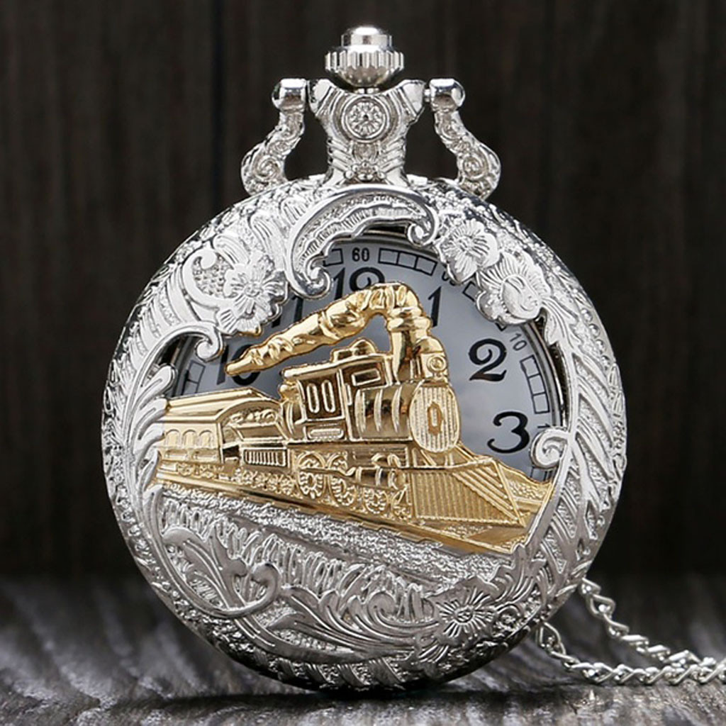 Large Gold Chain Hollow Front Pocket Watch Vintage Magic Wand Pendant Pocket Quartz Pocket Watch Necklace карманные часы